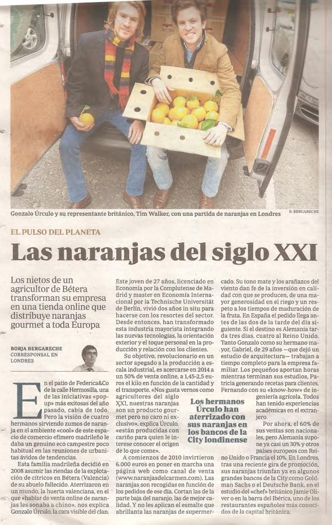 Naranjas del Carmen en el diario ABC