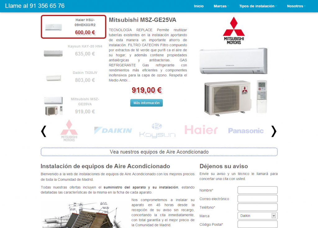 Aire acondicionado renueva su web blog de for Aire acondicionado caravana barato