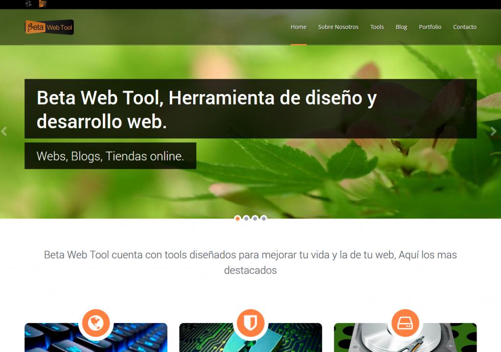 Beta Web Tool, gestor de contenidos