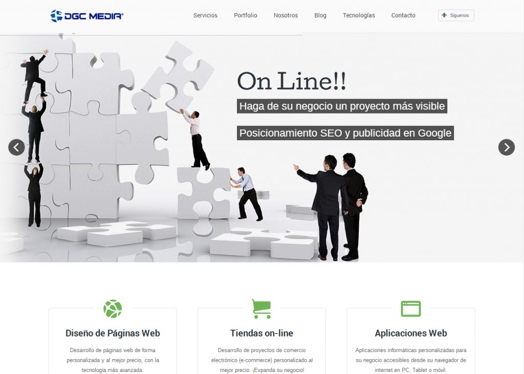 Captura de la nueva página web