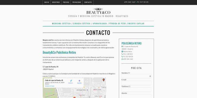 Página web de contacto