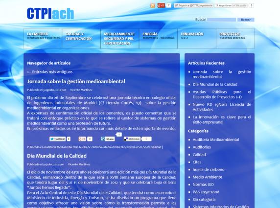 Blog de la página web