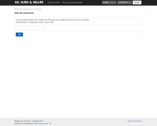 Aplicación web de administración de fincas