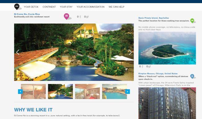 Página web de un hotel