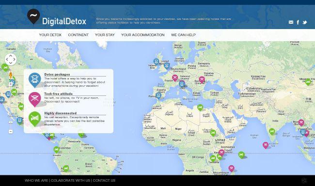Mapa de hoteles del mundo