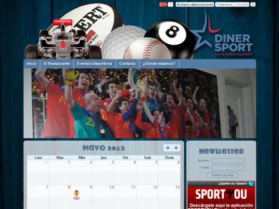 Página web de calendario de eventos deportivos