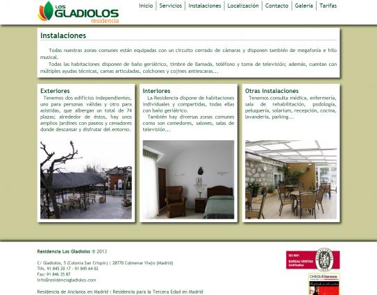 Página web de instalaciones