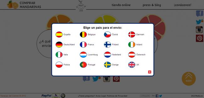 Tienda on-line con envíos a más de 15 países