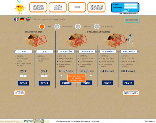 Catálogo de productos dinámico