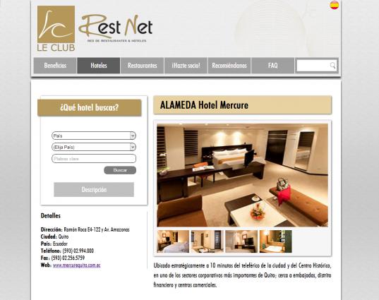 Página web de hoteles